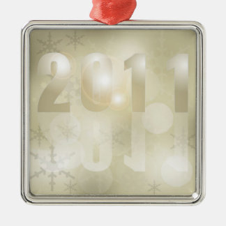 New Year 2011 Background Christmas Tree Ornament