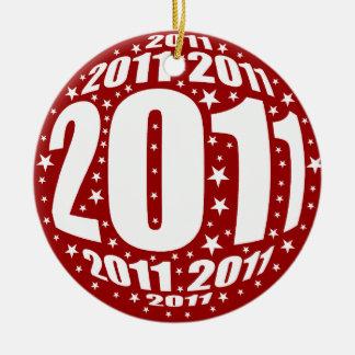New Year 2011 Round Ceramic Decoration