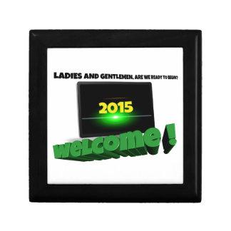New Year 2015 Gift Box