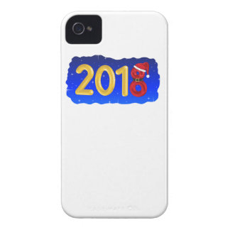 New Year 2018 Cartoon Case-Mate iPhone 4 Cases