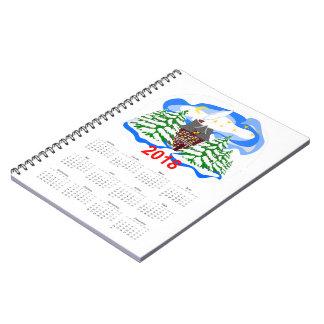 New Year 2018 greeting calendar Notebook