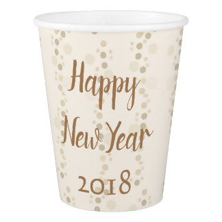 New Year 2018 Vibe Paper Cup