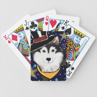 New Year Alaskan Malamute Bicycle Playing Cards