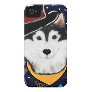 New Year Alaskan Malamute iPhone 4 Case-Mate Cases