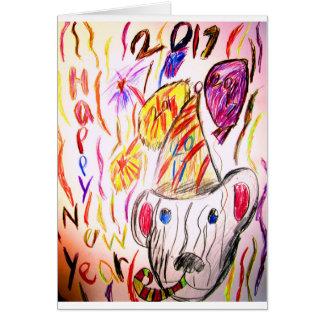 new year art 2017 2 card