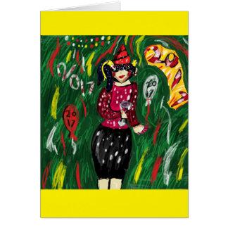 new year art 2017 card