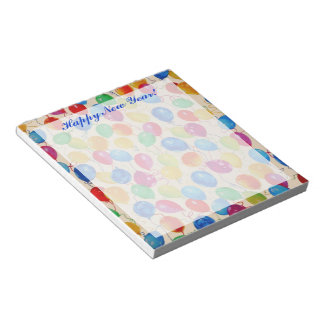 New Year Balloons Notepad