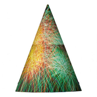 New Year bright fireworks party hat