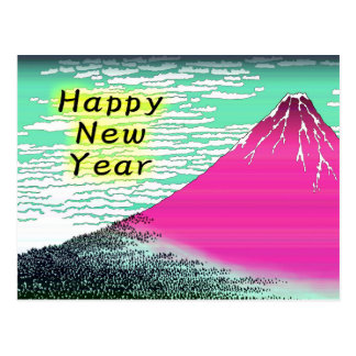 New Year Card of Ukiyoe,Katsushika Hokusai Mt.Fuji