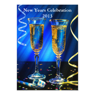New Year Champagne Toast Card