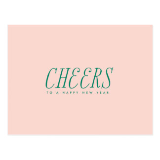 New Year CHEERS Postcard