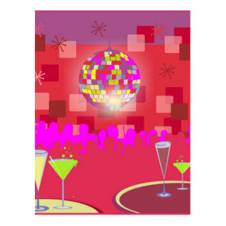 New Year Disco Postcard