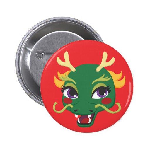 New Year Dragon Ride Pinback Button