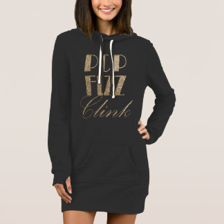 New Year Eve Gold and Black Pop Fizz Clink Dress