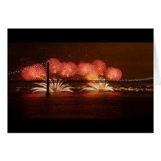 New Year Firework Lisbon Greeting Card