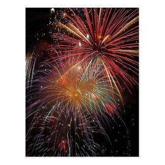 New Year Fireworks Sparkles Postcard