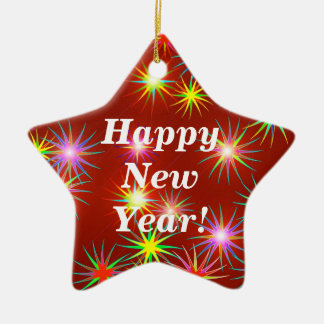 New Year Flash Ceramic Ornament