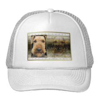 New Year - Golden Elegance - Airedale Mesh Hat
