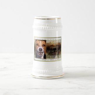 New Year - Golden Elegance - Beagle Mug