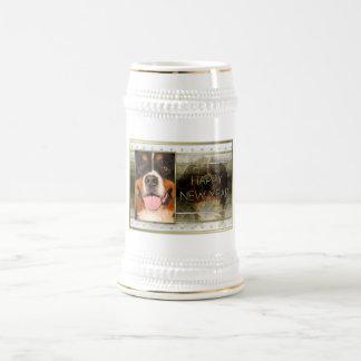 New Year - Golden Elegance - Bernese Mountain Dog Beer Stein