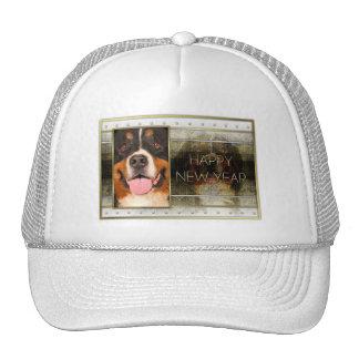 New Year - Golden Elegance - Bernese Mountain Dog Hats