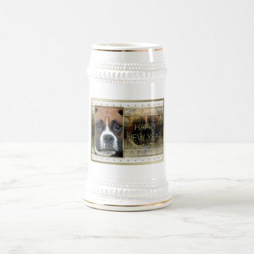 New Year - Golden Elegance - Boxer - Vindy Coffee Mugs