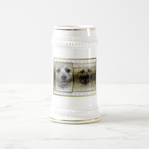 New Year - Golden Elegance - Cairn Terrier Coffee Mugs
