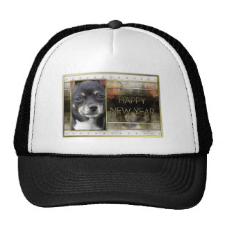 New Year - Golden Elegance - Chihuahua - Isabella Mesh Hats