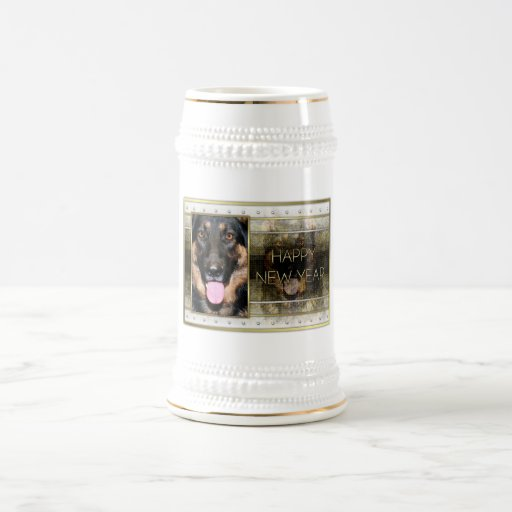 New Year - Golden Elegance - German Shepherd Kuno Mug