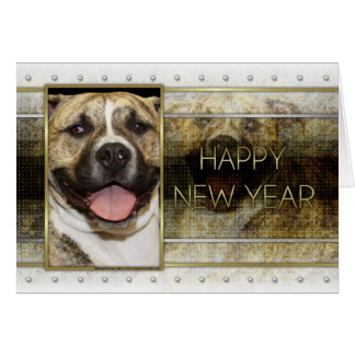 New Year - Golden Elegance - Pitbull Tigger Card