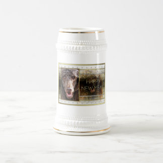 New Year - Golden Elegance - Poodle - Chocolate Beer Steins