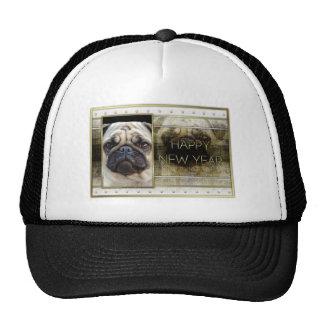 New Year - Golden Elegance - Pug Cap
