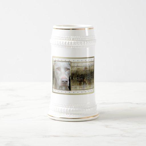 New Year - Golden Elegance - Weimeraner Mugs