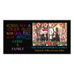 New Year Holiday Greetings Customised Photo Card