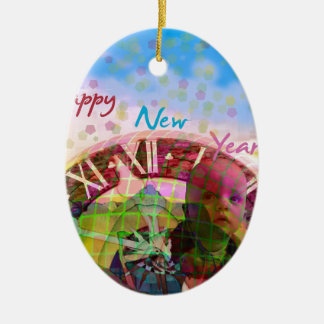 New Year is coming soon Ceramic Oval Decoration