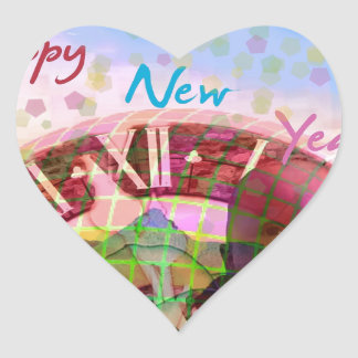 New Year is coming soon Heart Sticker