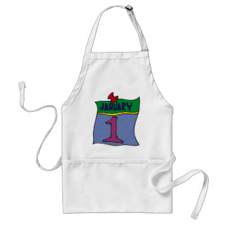 New Year January 1st Adult Apron