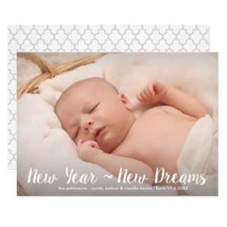 New Year New Dreams Modern Classic Photo Card