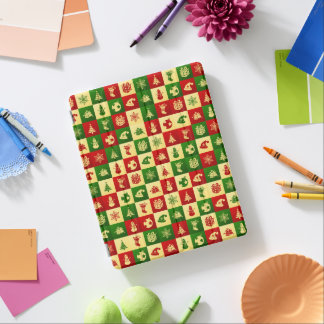 New Year pattern. Color mosaic. 2018. iPad Cover