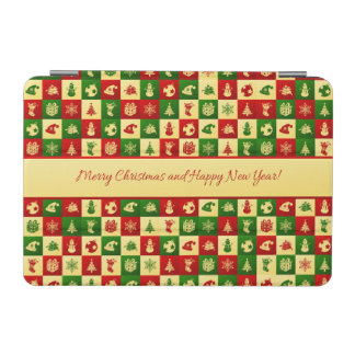 New Year pattern. Color mosaic. 2018. iPad Mini Cover