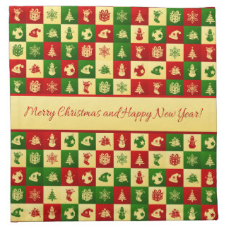 New Year pattern. Color mosaic. 2018. Napkin