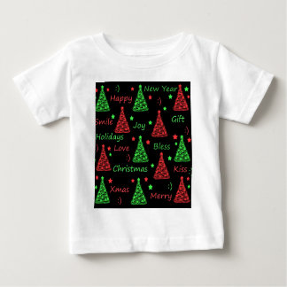 New Year pattern - Green and red Baby T-Shirt