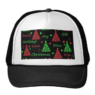 New Year pattern - Green and red Cap