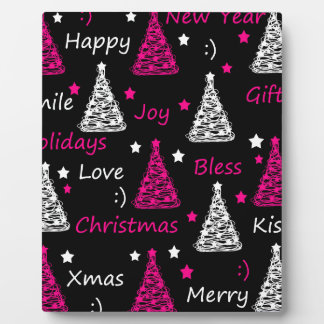 New Year pattern - magenta Photo Plaques