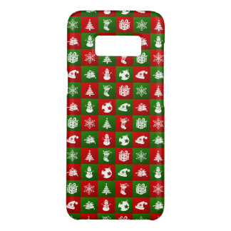New Year pattern. Red, Green, White. 2018. Case-Mate Samsung Galaxy S8 Case