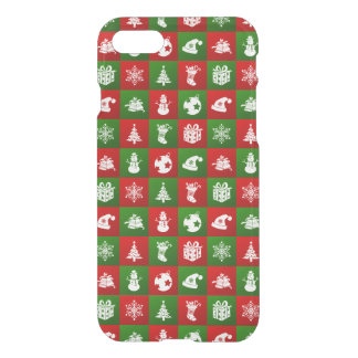 New Year pattern. Red, Green, White. 2018. iPhone 8/7 Case