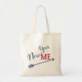 New year resolution typography script quote tote bag