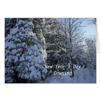 "New Year""s Day Dawning Greeting Card"