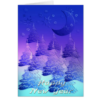 New year 's day greeting card