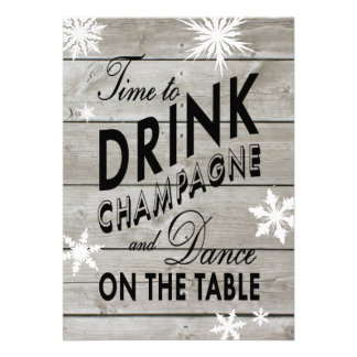 New Year s Time to Drink Champagne Invite